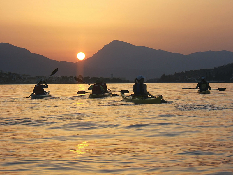 Kayak-sunset-paddle-Poros-Greece