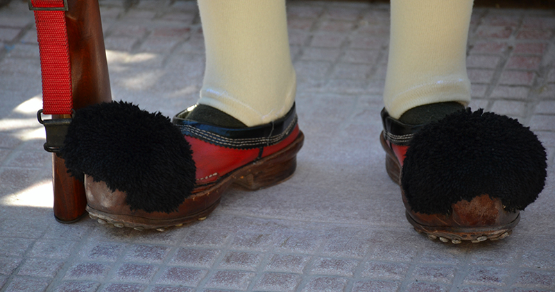 The traditional shoes Tsaruchia