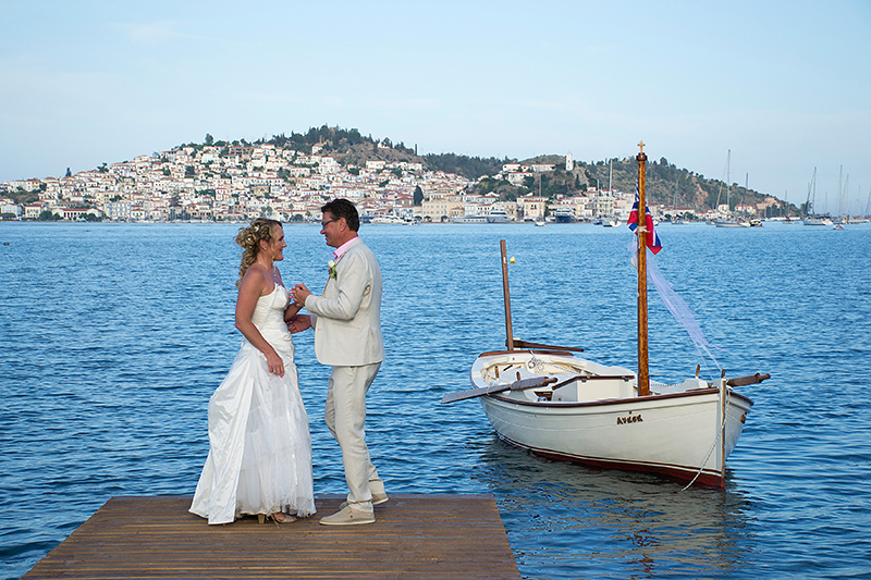 Getting married on romantic Poros