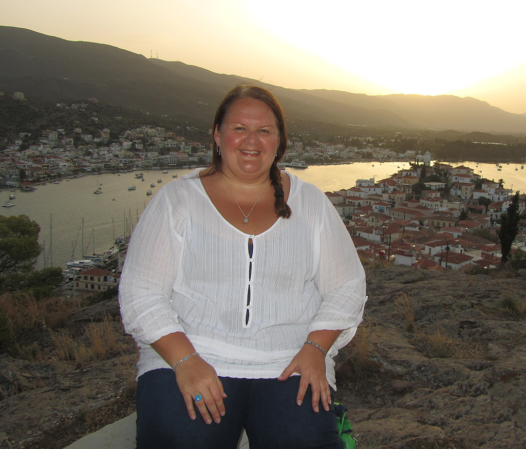 Ingrid on the Greek island Poros