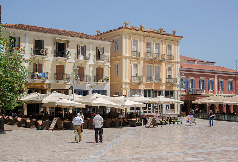 Visiting Nafplion during the painting holiday on Poros