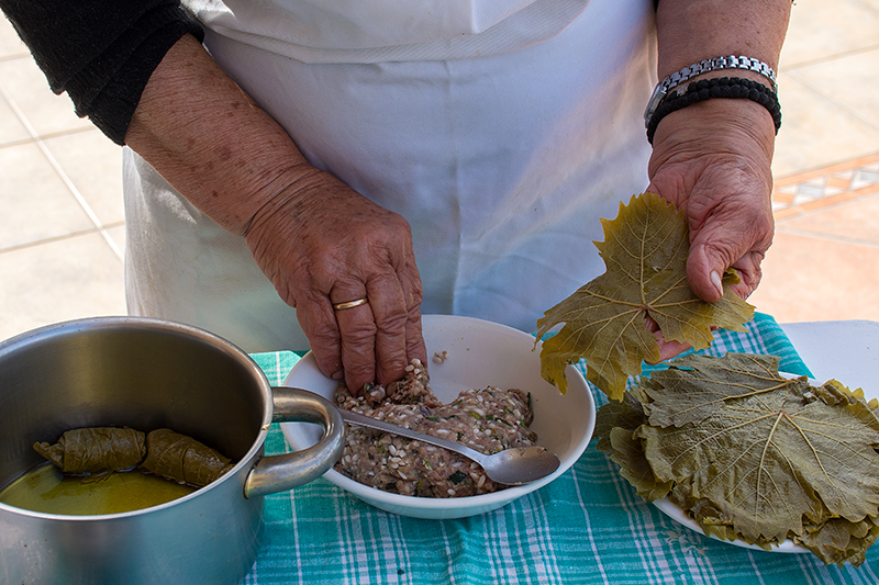 Stuffing the Greek Dolmades