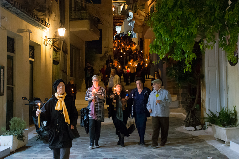 Good Friday procession on Poros