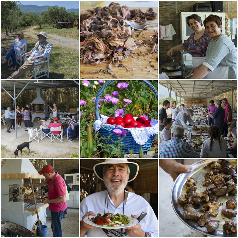 Greek Easter at Katerinas farm on Poros