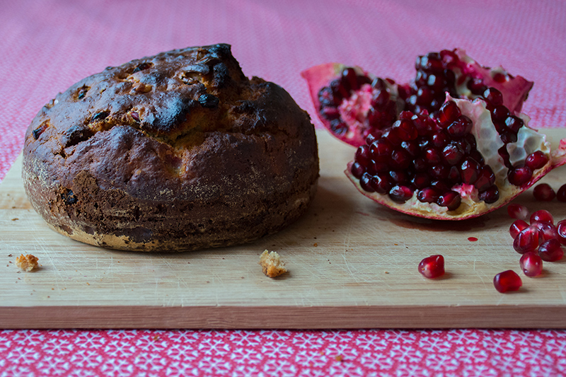 Pomegranate-walnut-bread-with-ouzo-honey-and-pears-odyssey-poros-greece