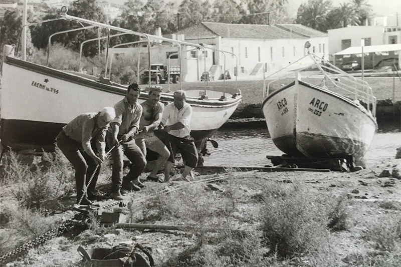Katerinas-father-and-his-fishing-boat-on-poros-greece