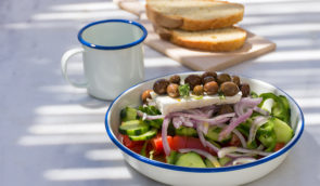 Odyssey's Greek Salad Poros Greece