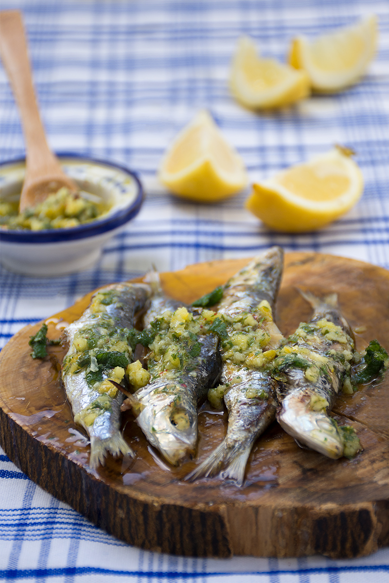 Odysseys grilled sardines Poros Greece