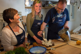 Greek cooking lessons on Poros Greece