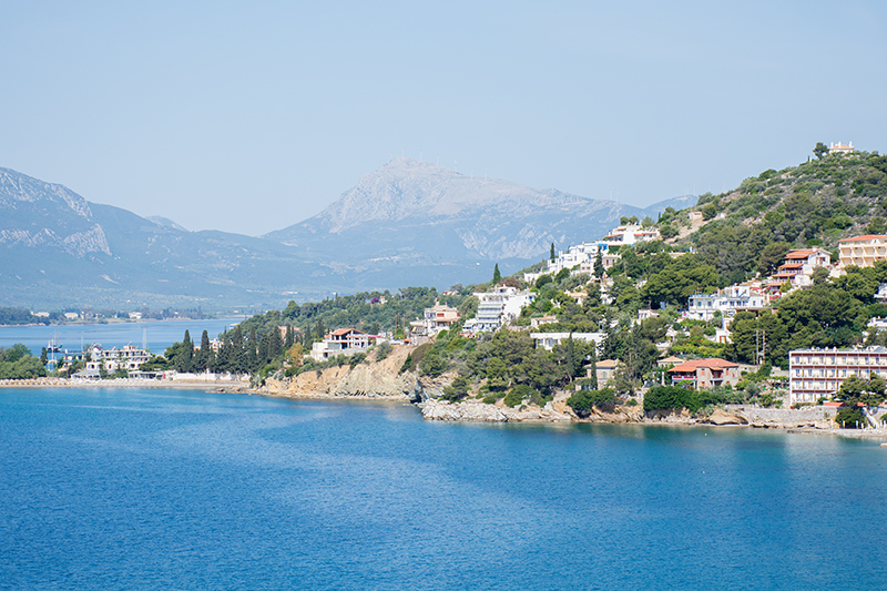 Greek island Poros Greece Saronic islands