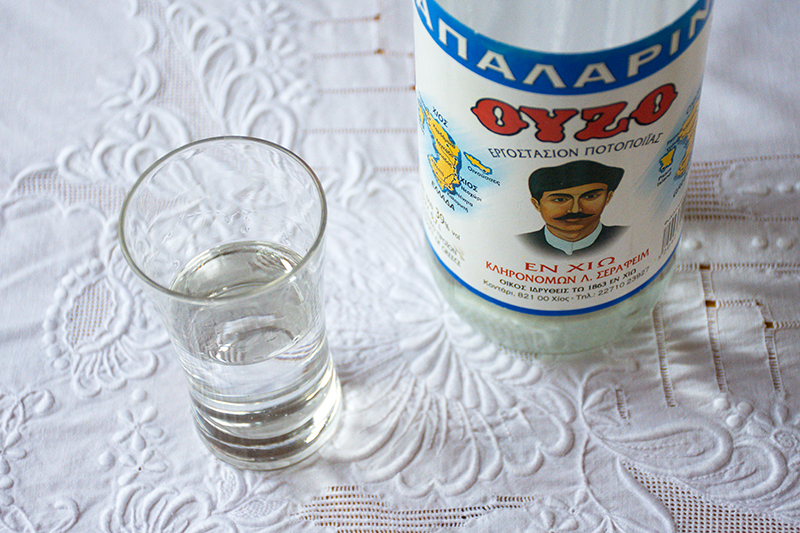 Greek Ouzo Odyssey Poros Greece food photography