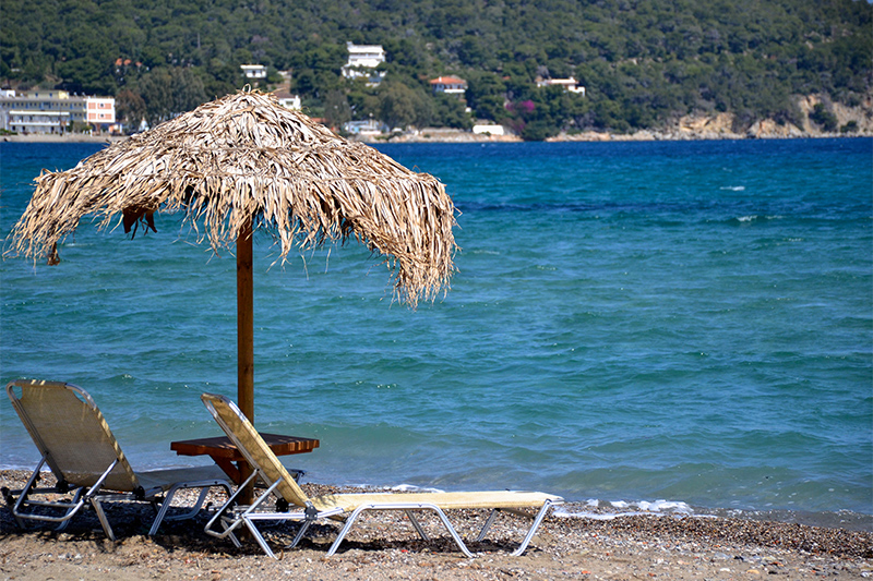 Top 10 beaches on Poros Greece Kanali Beach