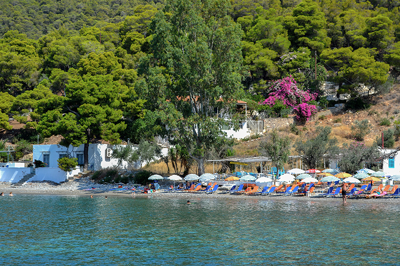 Top 10 beaches on Poros Greece Monastery Beach