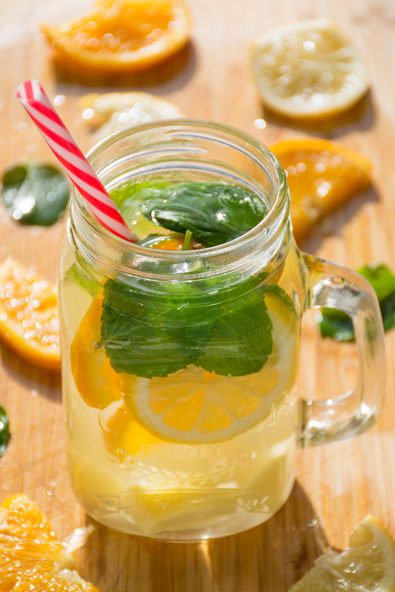 Summer Lemon Orange Mint Ginger Lemonade Odyssey Poros Greece food blog