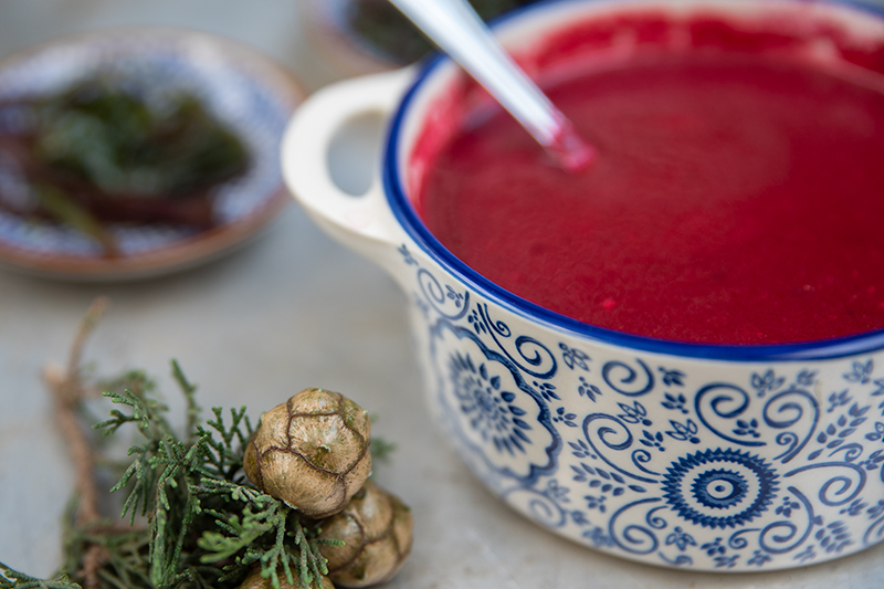Christmas Beetroot Soup Odyssey Poros Greece