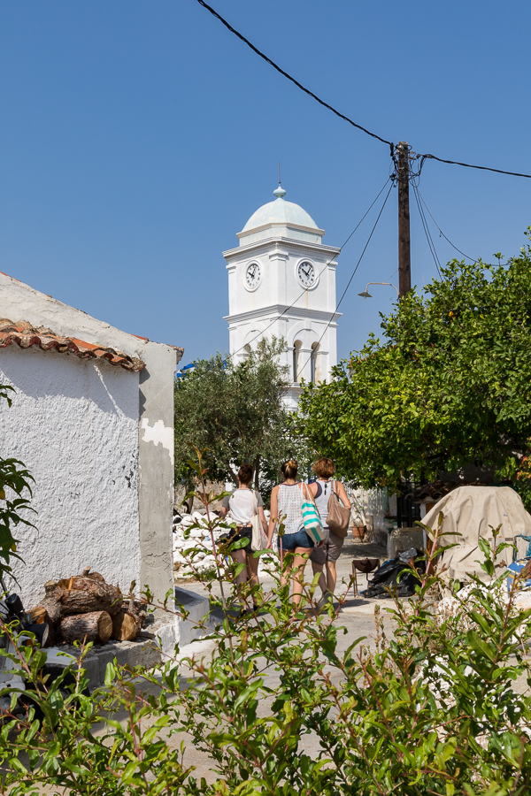 Walking in Poros-town with Katerina Greece