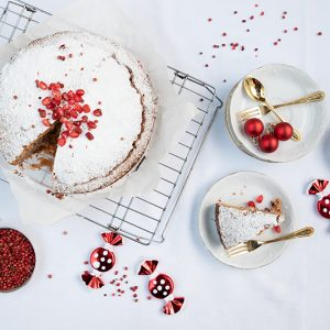 Odysseys red peppercorn and pomegranate cake Christmas recipes foodblog