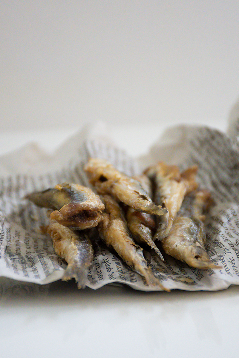 Greek fried anchovies Poros fish recipes