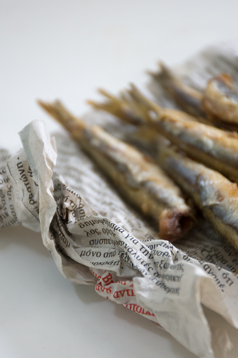 Katerinas fried anchovies Greek fish recipes