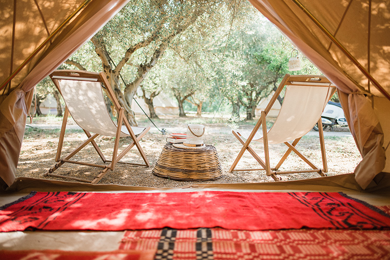 The glamping at Odyssey Poros Greece
