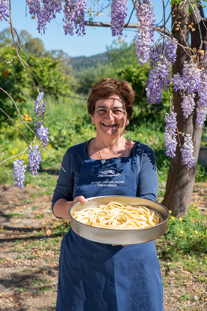 Katerina and her Bucatini pasta