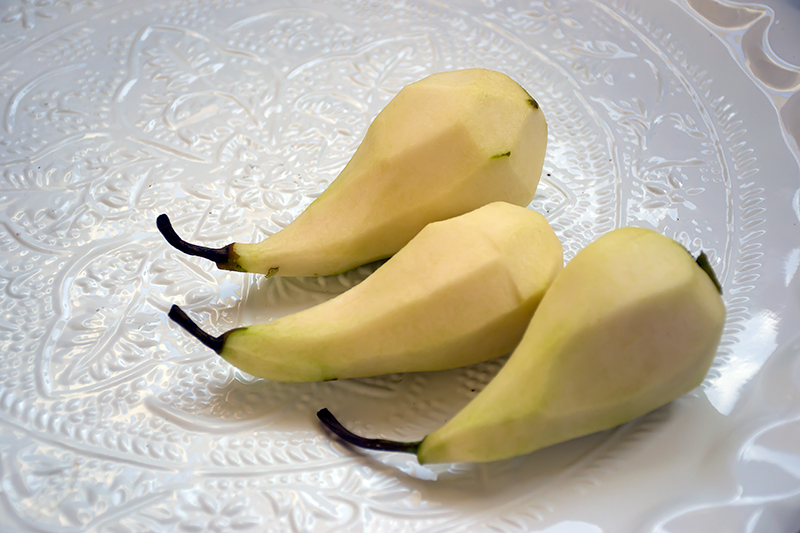 Pears ready for the ouzo