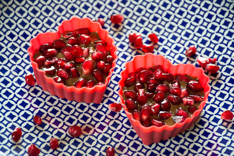 Making Greek Valentine chocolates