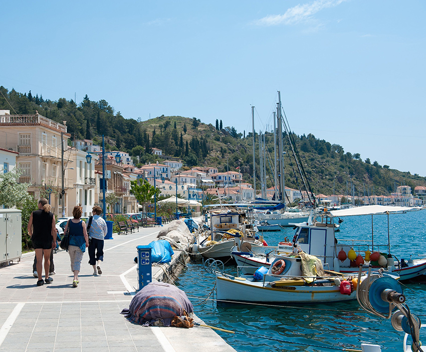 Walking in romantic Poros