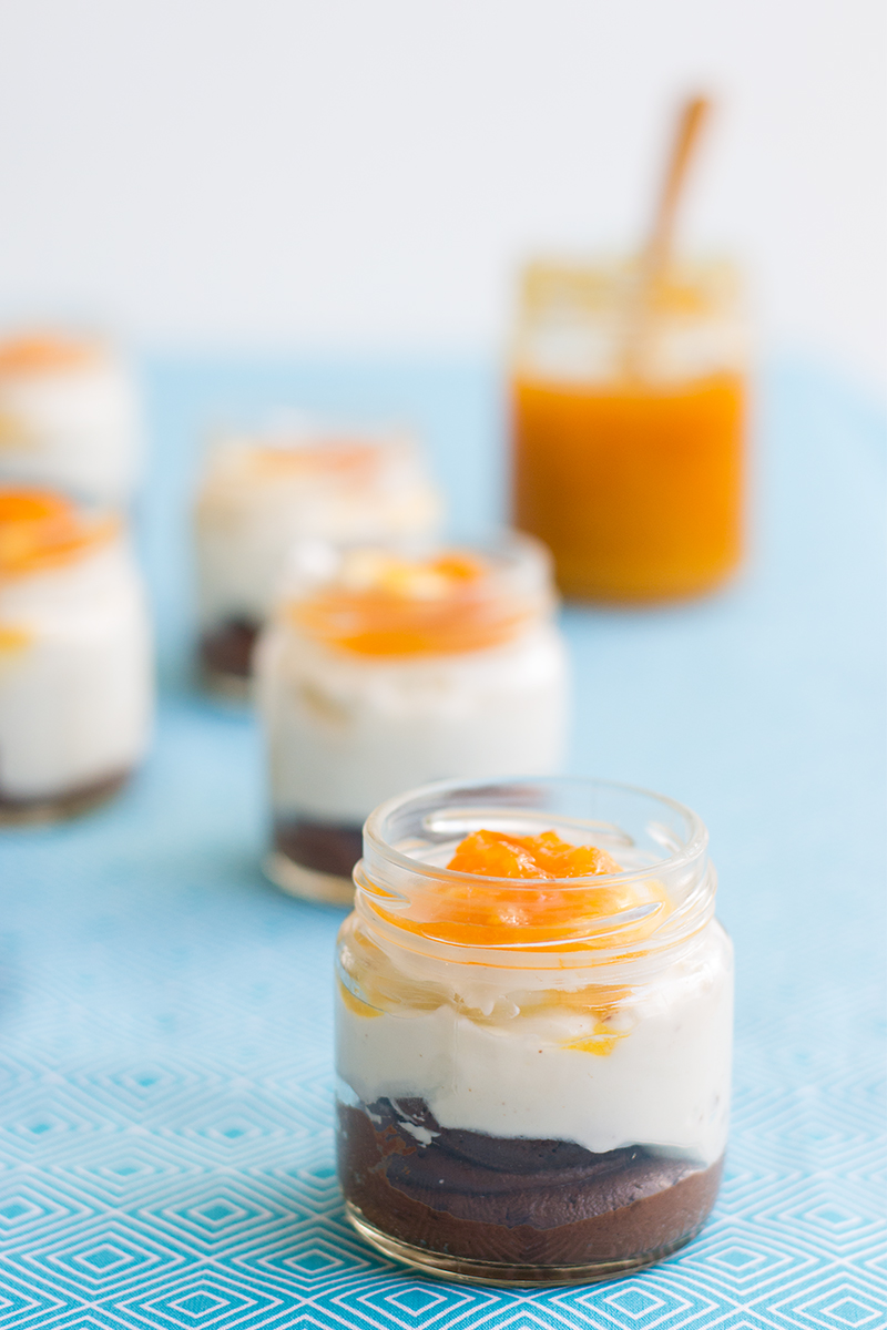 Odyssey's chocolate mousse with orange marmalade Poros Greece