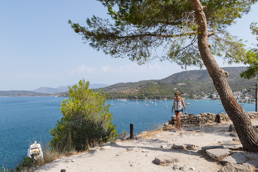 Walks during the yoga holiday on Poros Greece Odyssey