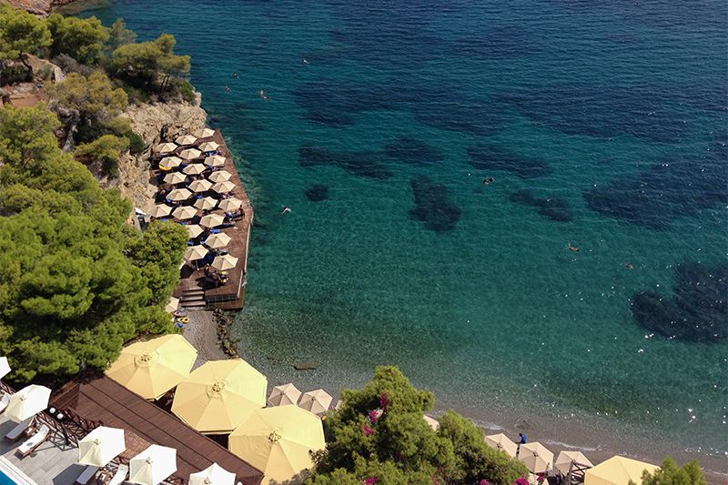 Top 10 beaches on Poros Greece Sirene Blue Resort