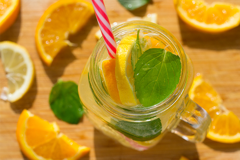 Odysseys Lemon Orange Mint Ginger Lemonade Poros Greece food blog