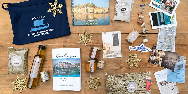 Odyssey Christmas presents Poros Greece
