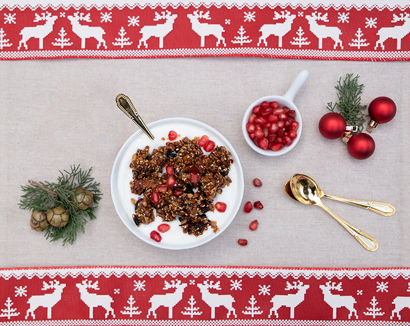 Odyssey Christmas breakfast Yoghurt with Greek granola Christmas recipes