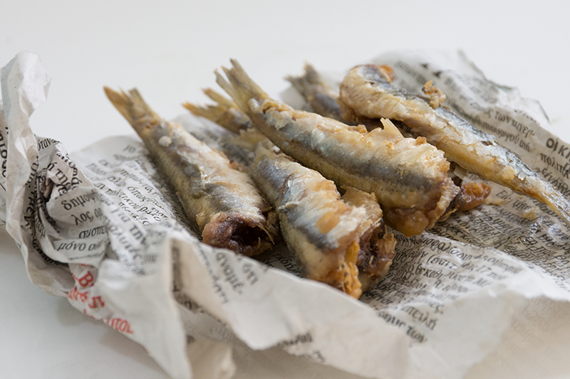 Odyssey's fried anchovies Poros Greece fish recipes