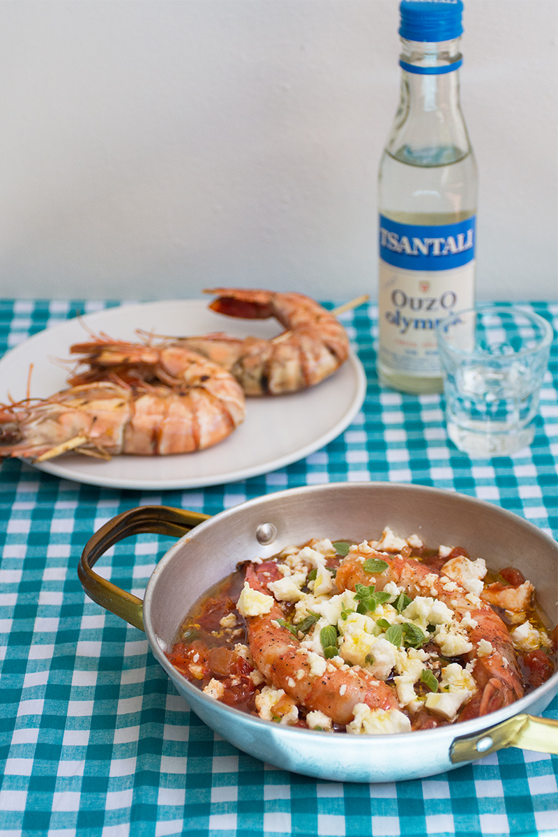 Greek Prawn Saganaki Odyssey Poros Greece Greek fish recipes