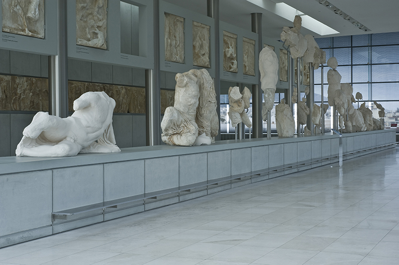 West pediment Parthenon Acropolis Museum Athens Greece