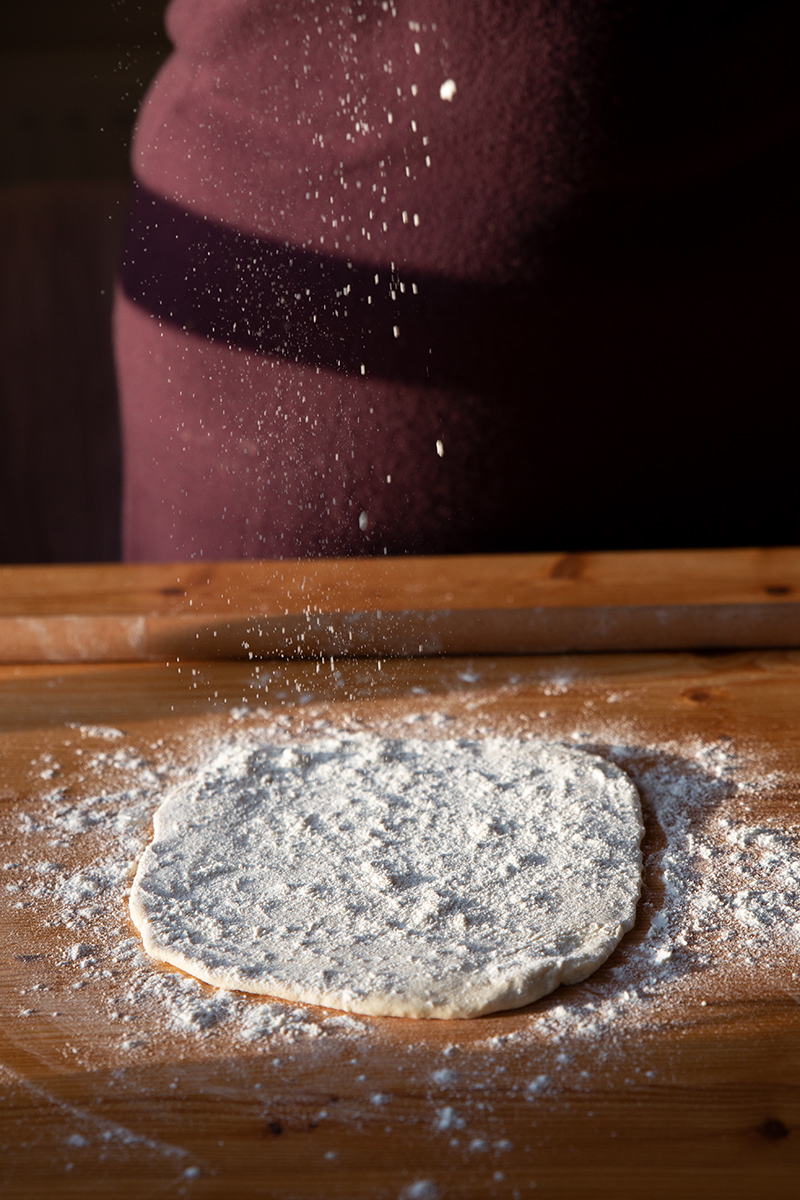 Making the dough for the Diples