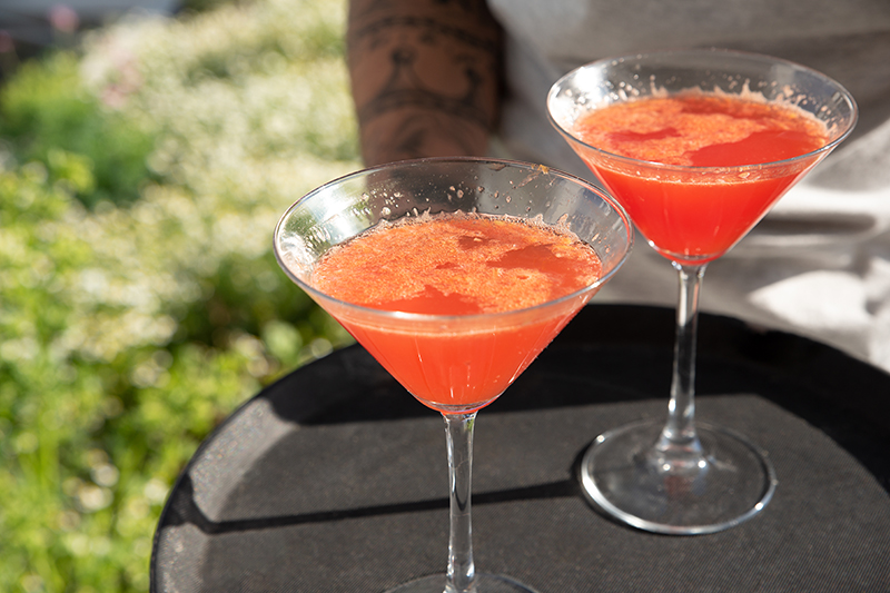 Red Orange Blossom Cocktail