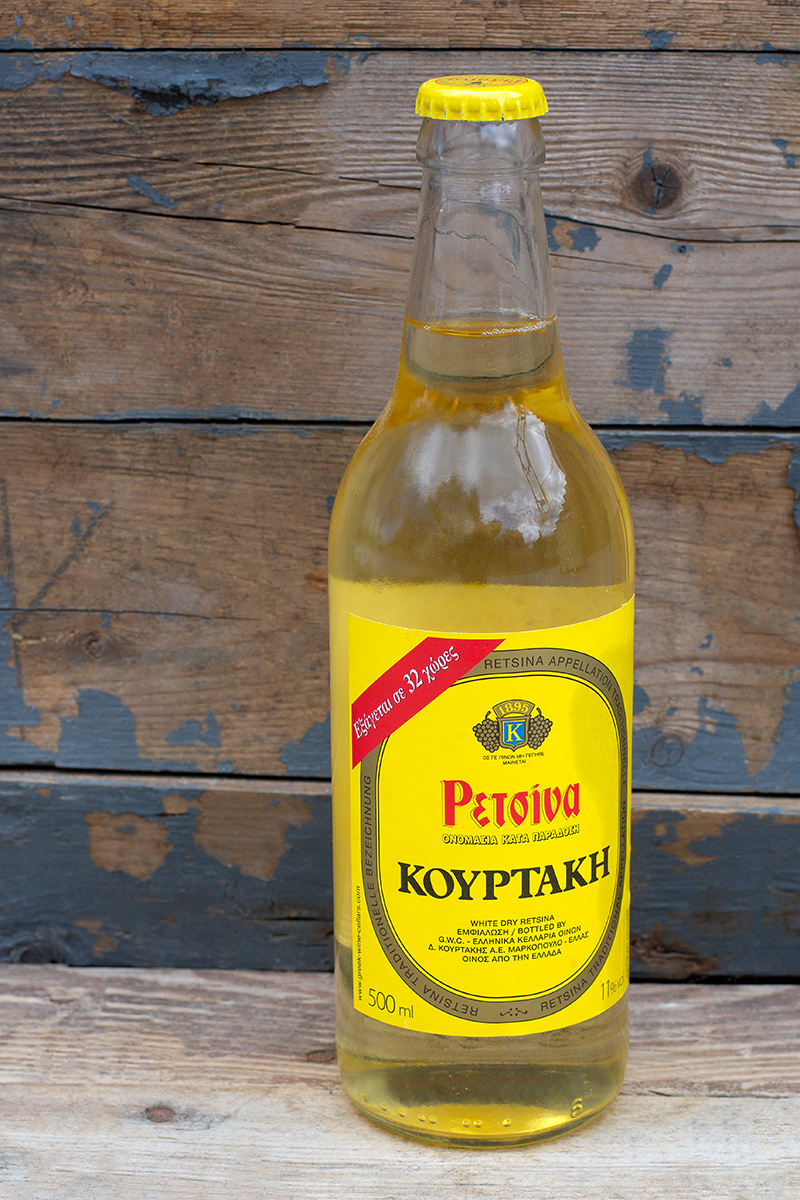 Greek Retsina wine