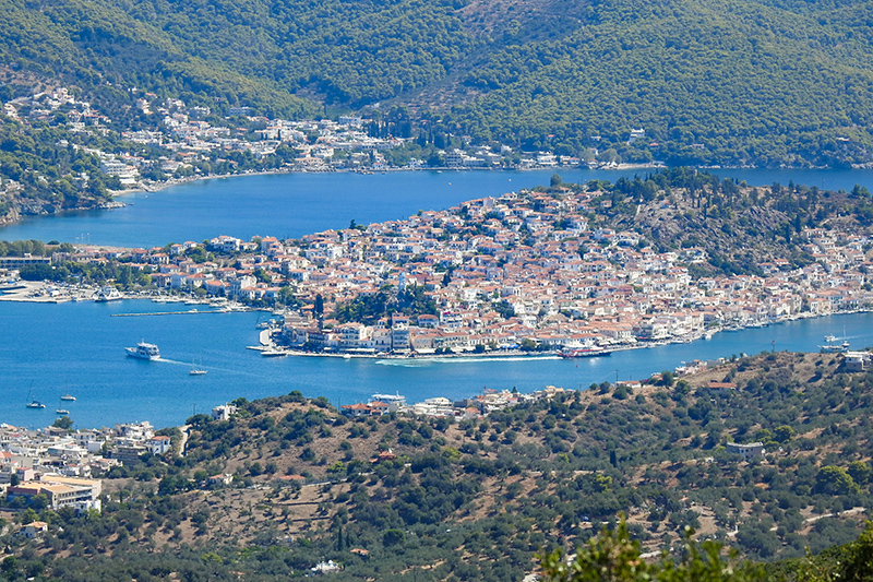 View on Poros Greece