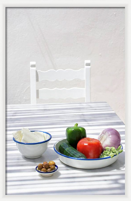 Framed print Greek Salad