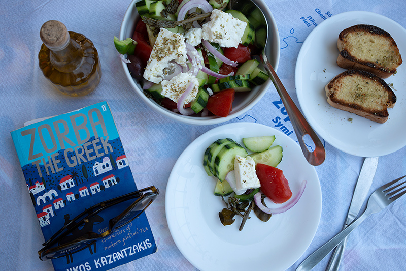 Greek salad on Symi