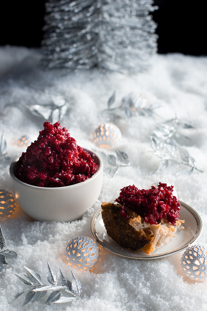 Odyssey's beetroot and almond dip